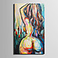 Mini Size E-HOME Oil painting Modern The Naked Woman's Back Pure Hand Draw Frameless Decorative Painting 3204