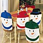4PCS Fashion Santa Clause Cap Red Hat Furniture Chair Back Cover Christmas Dinner Table Party Xmas New Year Decoration 3204