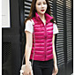 Women's Down Coat,Simple Casual/Daily Solid-Nylon White Duck Down Sleeveless Stand 3204