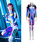 NEW ARRIVAL Women's Cosplay D.Va Cosplay Costume Elastic Jumpsuits Set Halloween Cosplay Costume 3204