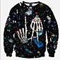 Men's Daily Casual Active Boho Sweatshirt 3D Print Round Neck Micro-elastic Polyester Long Sleeve Winter Fall 3204