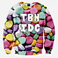 Men's Casual/Daily / Sports / Holiday Simple / Boho / Active Regular Hoodies,Print Red / White / Purple Round Neck Long Sleeve Polyester 3204