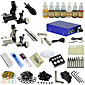Ophir Black Sliver Two Color Motor Tattoo Machine Tattoo Kit with 7 Inks #TA067 3204
