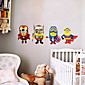 4 Minions Cosplay Avengers Superhero Wall Stickers Fashion DIY Despicable Me Living Room Bedroom Wall Decals 3204