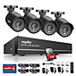 SANNCE 8CH 4 in 1 720P HDMI AHD CCTV DVR 4PCS 1.0 MP IR Outdoor Security Bullet Camera Surveillance System Built-in 1TB HDD 3204