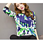 Sign # 702 Korean fashion wild loose long-sleeved round neck printed sweater female hedging 3204