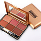 Professional Makeup Blusher Long Lasting 6 Color Minerals Powder Retro Face Base Blush Bronzers Contouring Make Up Palette 3204