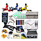 Great Tattoo Kits 3 Rotary Machine New Design Power box 50 Tattoo Needles with Carrying Case LCD Power Supply 100 Tattoo Ink Cups 1 Practice Skin 3204