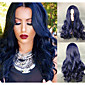 Navy Blue Body Wave Long Length Fashion European Celebrity Style Heat Resistant Daily Wearing or Party Cosplay Newest Hairstyle High Quality 3204