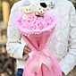 Valentine'S Day A Marriage Gauze Bear And 11 Cartoon Bouquet Of Pink Roses 3204