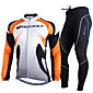 NUCKILY Cycling Jersey with Tights Men's Long Sleeve BikeBreathable / Thermal / Warm / Ultraviolet Resistant / Reflective Strips / 3204