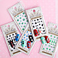 12pcs 3D Full Nail Paste Gemstones With Adhesive Directly Posted Nail Paste 3204