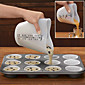 Heart Shape Silicone Measuring Cup  Cake Batter Dispenser With Measuring Label 3204