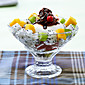 1Pc Ice Cream Bowl / High Glass Foot Salad Bowl Dessert Bowl Of Ice Cream Cup Foot Ice Cream Cup / Ice Cup Of Ice Cream 3204