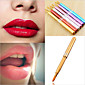 1Pcs Makeup Women Portable Retractable Cosmetic Lip Brush Lipstick Gloss Beauty Color Random 3204
