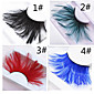 A Pair Of Hairy Feathers Multi-Color Optional Exaggerated False Eyelash Ball 3204