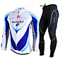 NUCKILY Cycling Jersey with Tights Men's Long Sleeve Bike Breathable / Ultraviolet Resistant / Reflective Strips / ComfortableClothing 3204