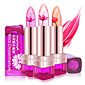 1Pcs Temperature Change Color Lip Balm 3 Color Waterproof Long-Lasting Sweet Transparent Jelly Flower Pink Moisturizer Lipstick 3204