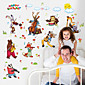 Happy Birthday Wall Stickers Cartoon Zoo Party Children's Wall Decals DIY Environmental Wall Stickers 3204