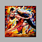 Hand-Painted Abstract People SquareClassic Traditional One Panel Canvas Oil Painting For Home Decoration 3204