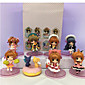 Anime Action Figures Inspired by Cardcaptor Sakura Sakura Kinomodo PVC 7 CM Model Toys Doll Toy 1set 3204