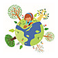 Wall Stickers Wall Decals Style Earth PVC Wall Stickers 3204