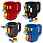 Novelty Drinkware, 350 ml BPA Free Plastic Coffee Milk Coffee Mug Toy block Mugs 3204