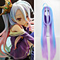 Synthetic Long Straight Harajuku Wig NO GAME NO LIFE Shiro Anime Cosplay Wigs Halloween Christmas Animation 3204