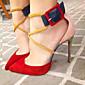 Women's Sandals Spring Summer Club Shoes Fleece Party  Evening Dress Casual Stiletto Heel Buckle 3204