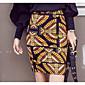 Women's Mid Rise Going out Casual/Daily Above Knee Skirts A Line Print Summer 3204