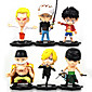Anime Action Figures Inspired by One Piece Monkey D. Luffy PVC 10 CM Model Toys Doll Toy Trafalgar Law 6PCS 3204