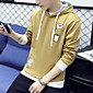 Men's Casual/Daily Sports Active Simple Hoodie Solid 3D Print Oversized Turtleneck Fleece Lining Micro-elastic Cotton 3204