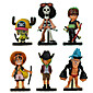 Anime Action Figures Inspired by One Piece Roronoa Zoro PVC 8 CM Model Toys Doll Toy 3204