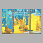 Hand-Painted Modern City Landscape Oil Painting Three Panel Canvas Oil Painting Multi Split Oil Painting 3204