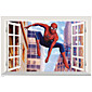 3D Cartoon Window Wall Stickers Movie Film Character/ Figure Spiderman PVC Wall Decals Home Decoration For Kids Room 3204