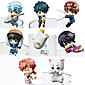 Anime Action Figures Inspired by Gintama Cosplay PVC 5 CM Model Toys Doll Toy 1set 3204