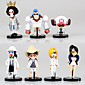 Anime Action Figures Inspired by One Piece Tony Tony Chopper PVC 9-5 CM Model Toys Doll Toy 7PCS 3204