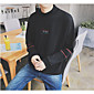 Men's Casual/Daily Sweatshirt Print Striped Round Neck strenchy Cotton Long Sleeve Spring 3204