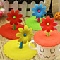 1Pcs Silicone Cute Flower  Anti-Dust Glass Cup Cover Coffee Mug Suction Seal Cap Random color 3204