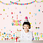 Happy Birthday Cake Party Children's Wall Stickers DIY Removable Wall Decals 3204