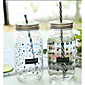 Large Transparent Glass Cups Korea Creative Mason Star Juice Drinks Cup 3204