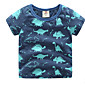 Baby 2017 Summer Wear Short Sleeve T-Shirt New Boy Children's Cartoon Coat Boys clothes 3204
