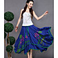 Women's High Rise Going out Knee-length Skirts Trumpet/Mermaid Geometric Spring Summer 3204