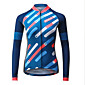 Mysenlan Women's Long Sleeve Cycling Jersey Bike Jersey, Quick Dry, Breathable Polyester 3204