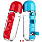 Creative Portable Sports Drink Shaker Water Bottle Combine with Built-in Daily Pill Vitamin Box Organizer Leak-Proof Tumbler Plastic Drinkware 600ML 3204