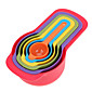 Rainbow Measuring Cups the Amount of Color 6 Sets of Colorful Spoon Thick Section of the kitchen Baking Tools Random Color 3204