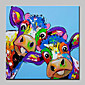 Oil Painting Hand Painted - Animals Abstract Modern / Contemporary Canvas 3204
