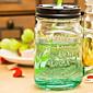 Creative Fruit Series Mason Portable Handle Glass Straw Cup 3204