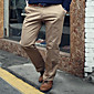 New Men's Youth Occupation Decoration Body Color Pants Small Straight Iron Overalls 3204