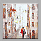 Abstract Oil Painting The Lover Walking in The Street Road Framed Handmade Oil Painting For Home Decoration 3204